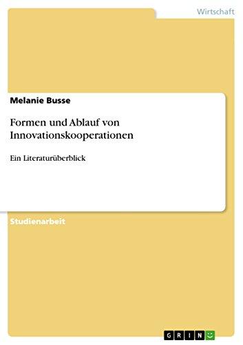 9783640440832: Formen und Ablauf von Innovationskooperationen