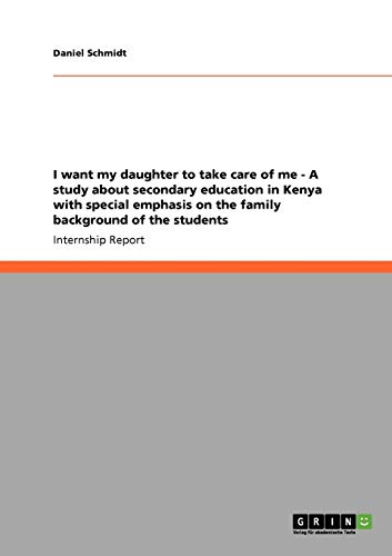 I Want My Daughter to Take Care: Daniel Schmidt
