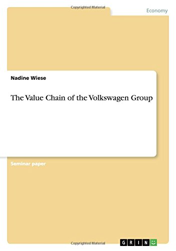 9783640467488: The Value Chain of the Volkswagen Group