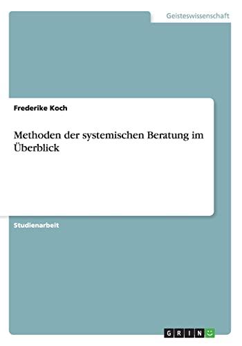 9783640467990: Methoden der systemischen Beratung im Überblick