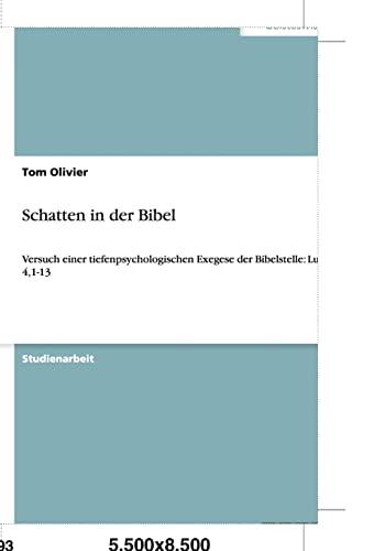 9783640479122: Schatten in der Bibel (German Edition)