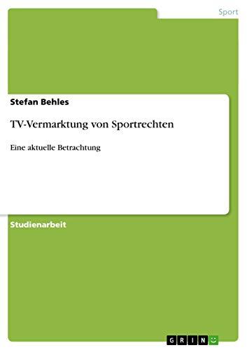 TV-Vermarktung Von Sportrechten: Stefan Behles