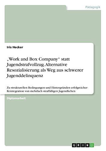 """9783640486502: """"Work and Box Company"""" statt Jugendstrafvollzug. Alternative Resozialisierung als Weg aus schwerer Jugenddelinquenz (German Edition)"""