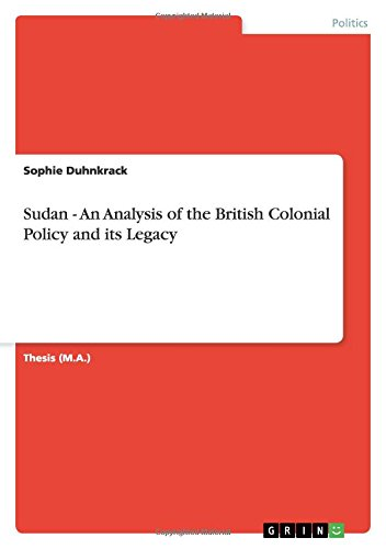 9783640509522: Sudan - An Analysis of the British Colonial Policy and its Legacy