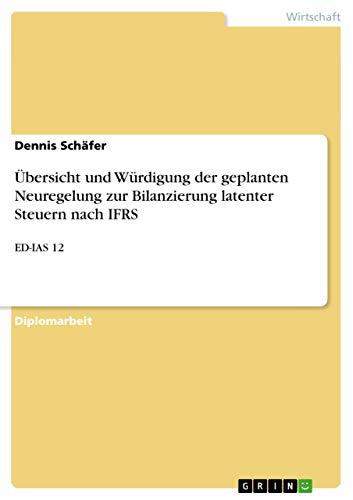 Ãoebersicht und WÃ1/4rdigung der geplanten Neuregelung zur: Schäfer, Dennis