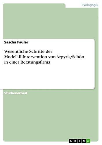 Wesentliche Schritte der von ArgyrisSchn beschriebenen Modell-II-Intervention: Sascha Fauler
