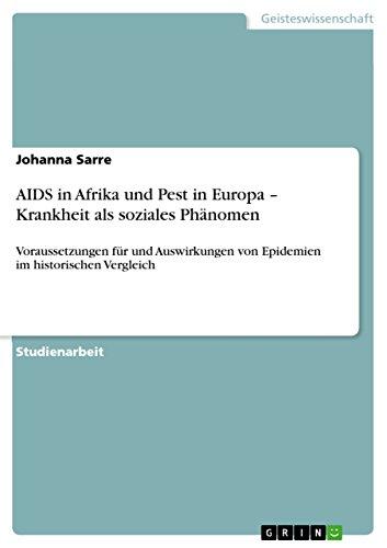 AIDS in Afrika und Pest in Europa: Sarre, Johanna