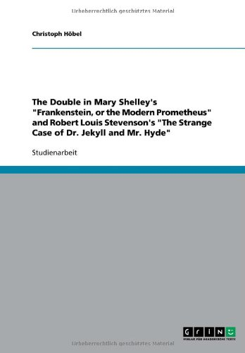 9783640531936: The Double in Mary Shelley's