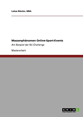 9783640539635: Massenphänomen Online-Sport-Events (German Edition)