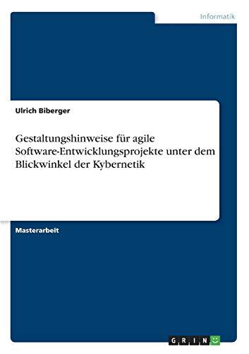 9783640539642: Gestaltungshinweise für agile Software-Entwicklungsprojekte unter dem Blickwinkel der Kybernetik (German Edition)