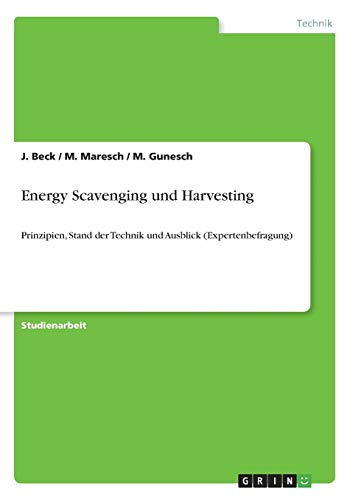 9783640545766: Energy Scavenging und Harvesting (German Edition)