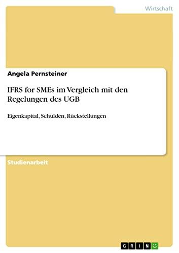 9783640550999: IFRS for SMEs im Vergleich mit den Regelungen des UGB (German Edition)