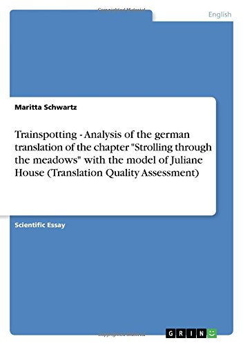 Trainspotting - Analysis of the German Translation of the Chapter Strolling Through the Meadows ...