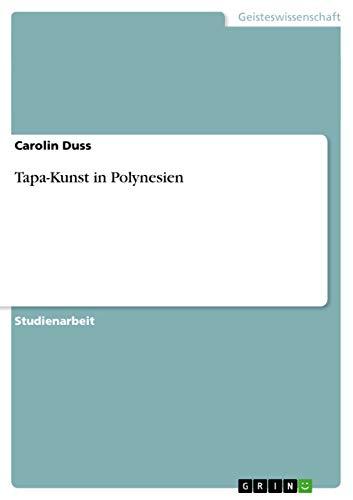 9783640562343: Tapa-Kunst in Polynesien