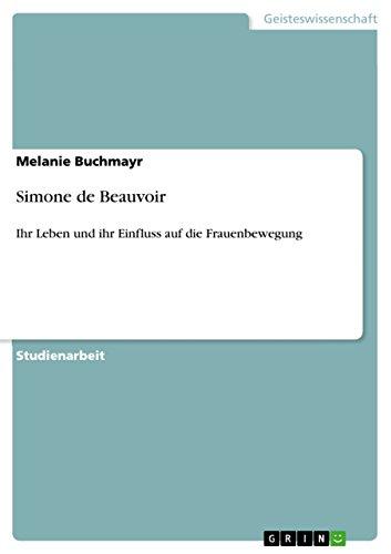 9783640587773: Simone de Beauvoir