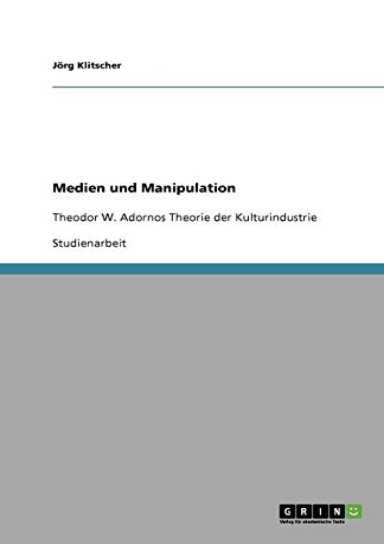 9783640588299: Medien und Manipulation