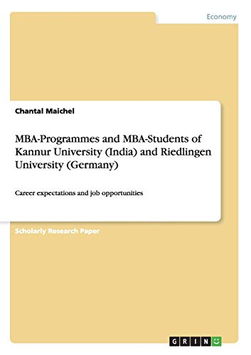 MBA-Programmes and MBA-Students of Kannur University (India) and Riedlingen University (Germany): ...