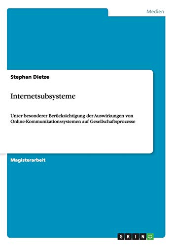 Internetsubsysteme: Stephan Dietze
