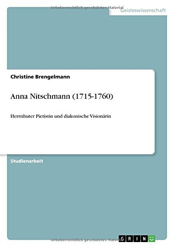 9783640605170: Anna Nitschmann (1715-1760) (German Edition)
