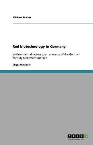 9783640621712: Red biotechnology in Germany (German Edition)