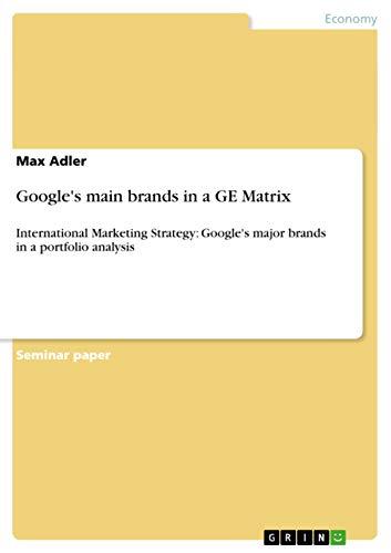 Googles Main Brands in a GE Matrix: Max Adler