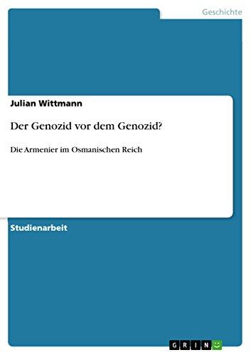 9783640632855: Der Genozid vor dem Genozid? (German Edition)