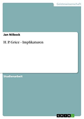 9783640642922: H. P. Grice - Implikaturen