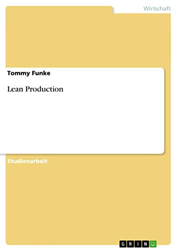9783640646326: Lean Production (German Edition)