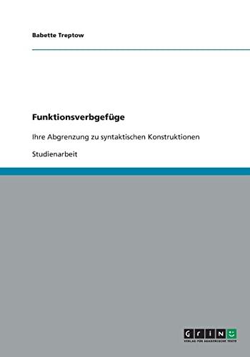 Funktionsverbgef ge (Paperback) - Babette Treptow