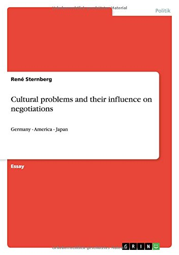 9783640725687: Cultural problems and their influence on negotiations (German Edition)
