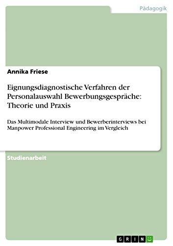 9783640732210: Eignungsdiagnostische Verfahren der Personalauswahl Bewerbungsgespräche: Theorie und Praxis