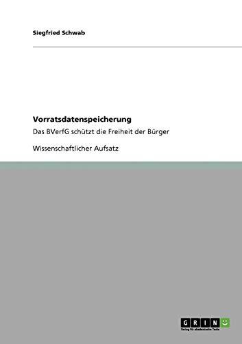 Vorratsdatenspeicherung: Siegfried Schwab