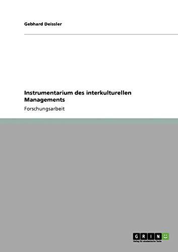Instrumentarium Des Interkulturellen Managements: Gebhard Deissler