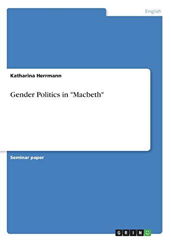 9783640771257: Gender Politics in