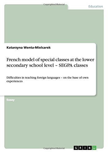 French Model of Special Classes at the: Katarzyna Wenta-Mielcarek