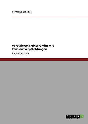 Verausserung Einer Gmbh Mit Pensionsverpflichtungen: Cornelius Schickle