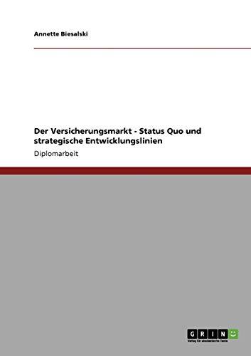 9783640793129: Der Versicherungsmarkt - Status Quo und strategische Entwicklungslinien