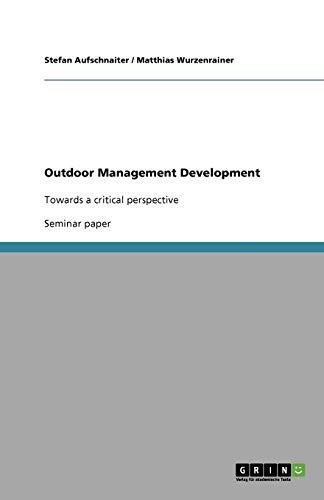 9783640820283: Outdoor Management Development