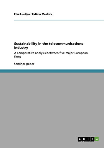 9783640820948: Sustainability in the telecommunications industry