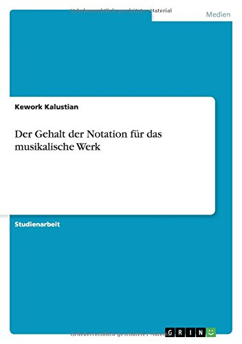 Der Gehalt Der Notation Fur Das Musikalische: Kework Kalustian