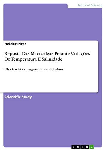 Reposta Das Macroalgas Perante Variacoes de Temperatura: Helder Pires