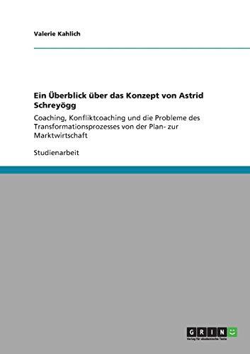9783640829811: Ein Uberblick Uber Das Konzept Von Astrid Schreyogg