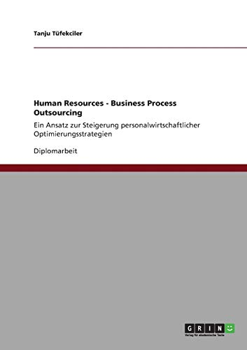 9783640835928: Human Resources - Business Process Outsourcing (German Edition)