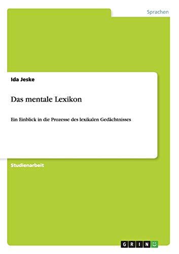 9783640837649: Das Mentale Lexikon