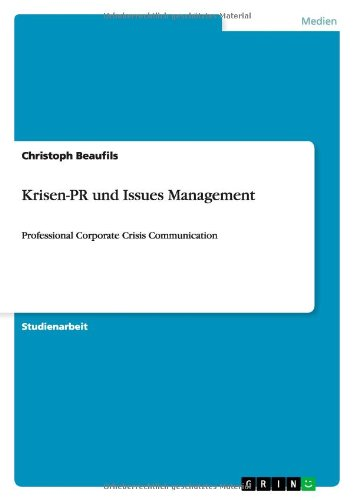 9783640842094: Krisen-PR und Issues Management (German Edition)