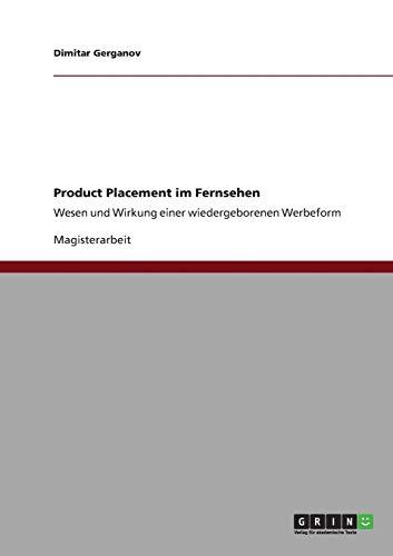 9783640845354: Product Placement im Fernsehen (German Edition)