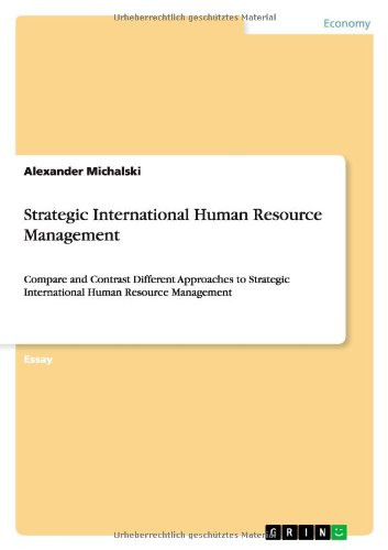 9783640849109: Strategic International Human Resource Management