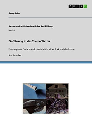 Einfuhrung in Das Thema Wetter: Georg Rabe