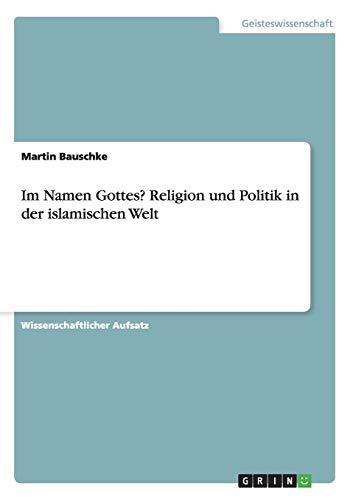 9783640860494: Im Namen Gottes? Religion und Politik in der islamischen Welt