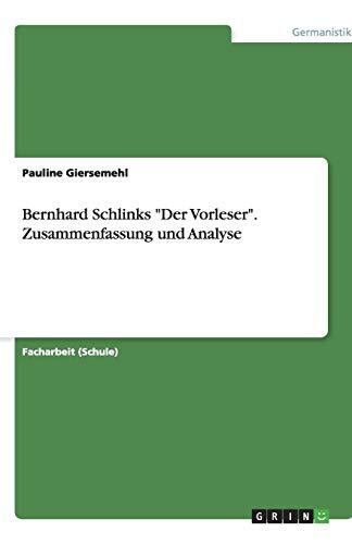 9783640881932: Bernhard Schlinks